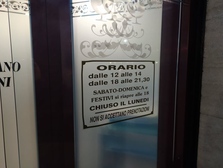 orari di apertura pizzeria anacapri