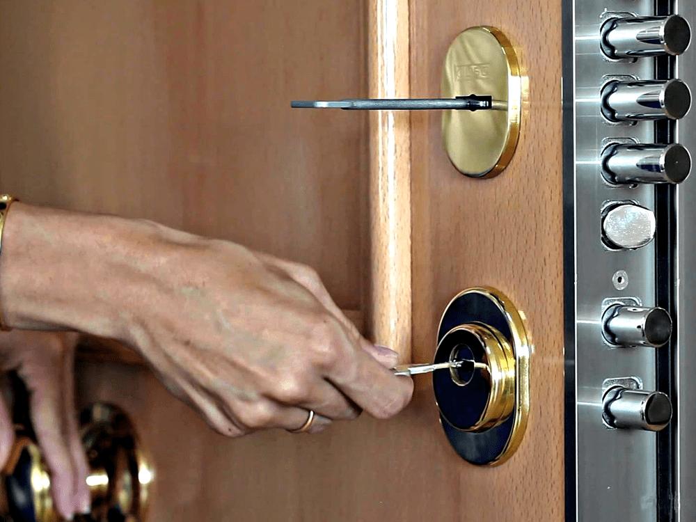 Chiave rotta di una porta blindata